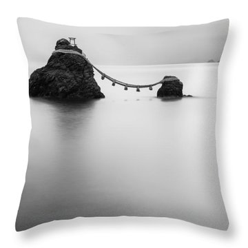 Meoto Iwa Throw Pillow