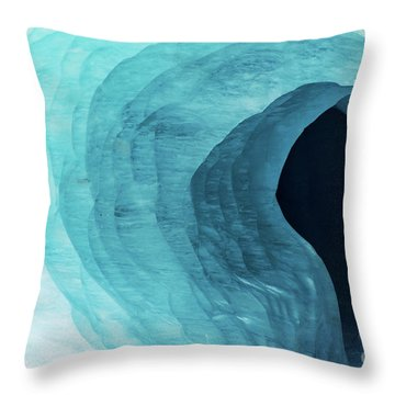Mer De Glace Throw Pillow