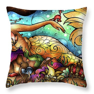 Mer De Lis Throw Pillow
