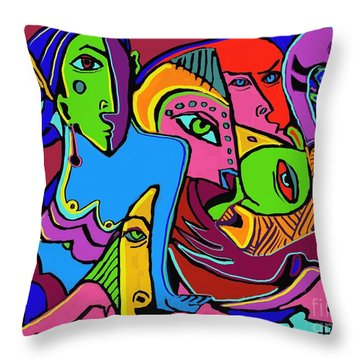 Mer Woman Throw Pillow