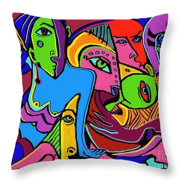 Mer Woman Throw Pillow by Hans Magden