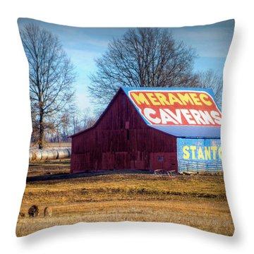 Meramec Caverns Barn Throw Pillow