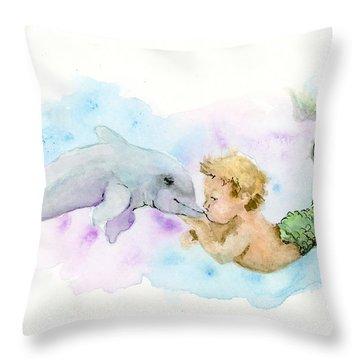 Merboy Kiss Throw Pillow