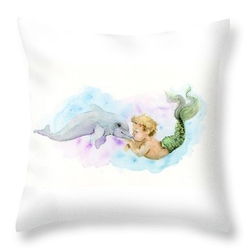 Merboy Kiss Throw Pillow