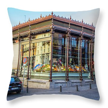 Mercado San Miguel, Madrid Throw Pillow