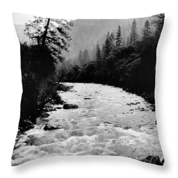 Merced River Canyon Throw Pillow