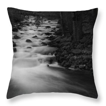 Merced River Falls Throw Pillow