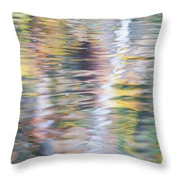 Merced River Reflections 10 Throw Pillow