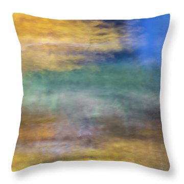 Merced River Reflections 12 Throw Pillow