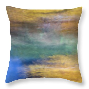 Merced River Reflections 13 Throw Pillow