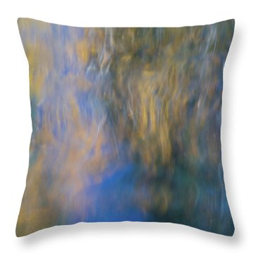 Merced River Reflections 15 Throw Pillow