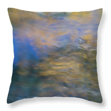 Merced River Reflections 18 Throw Pillow
