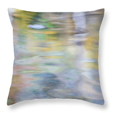 Merced River Reflections 6 Throw Pillow