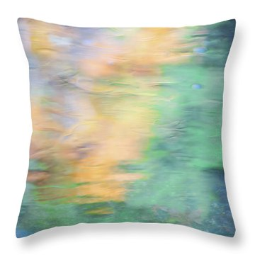 Merced River Reflections 7 Throw Pillow