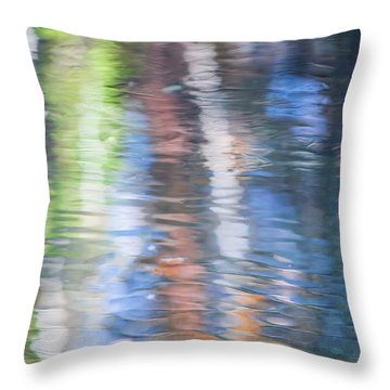 Merced River Reflections 8 Throw Pillow