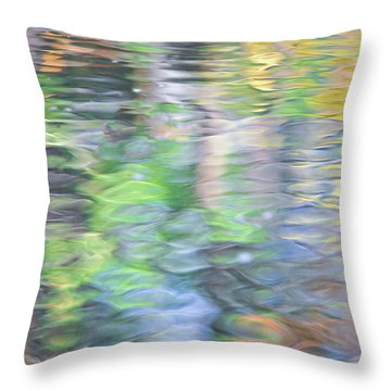 Merced River Reflections 9 Throw Pillow