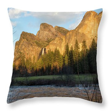 Merced River Yosemite Color Throw Pillow