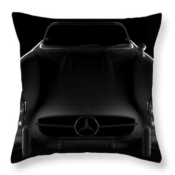 Mercedes 300 Sl Roadster - Front View Throw Pillow