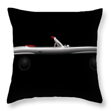 Mercedes 300 Sl Roadster - Side View Throw Pillow