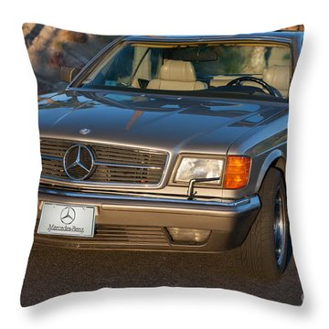 Throw Pillow featuring the photograph Mercedes 560sec W126 by Gunter Nezhoda