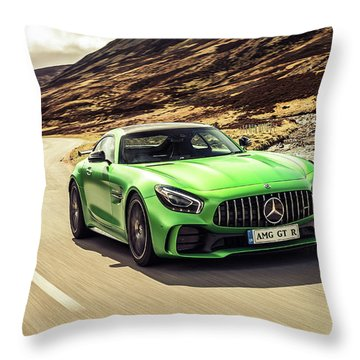 Mercedes A M G  G T  R Throw Pillow