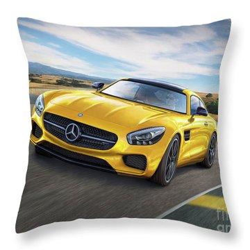 Mercedes Amg Gt Throw Pillow