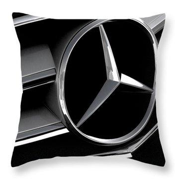 Mercedes Badge Throw Pillow