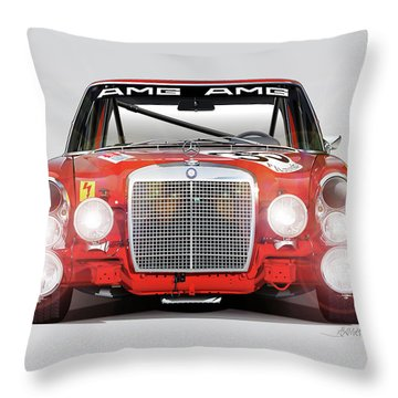 Mercedes-benz 300sel 6.3 Amg Throw Pillow