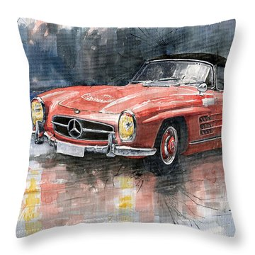 Mercedes Benz 300sl Throw Pillow