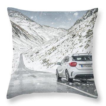 Mercedes Benz A45 Amg Snow Throw Pillow
