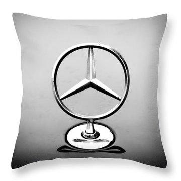 Mercedes Benz Logo Throw Pillow