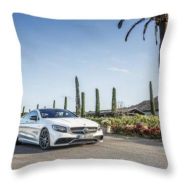 Mercedes Benz S63 Coupe Throw Pillow