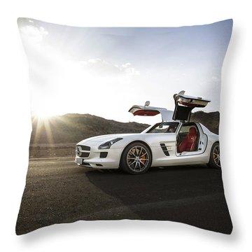 Mercedes Benz Sls Amg In Saudi Arabia Throw Pillow