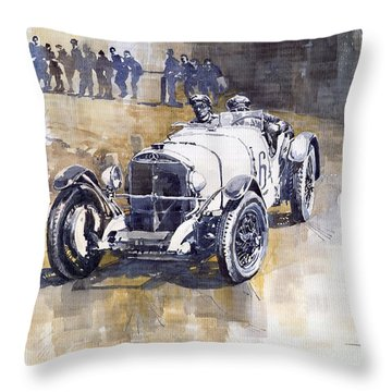 Mercedes Benz Ssk 1930 Rudolf Caracciola Throw Pillow