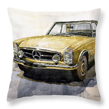 Mercedes Benz W113 Pagoda Throw Pillow