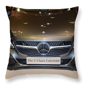 Mercedes Cabriolet Throw Pillow