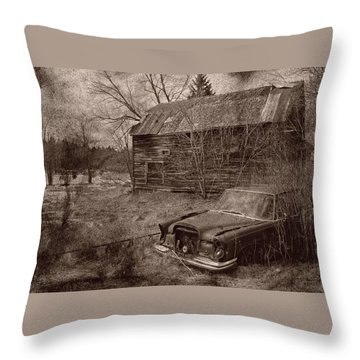 Throw Pillow featuring the photograph Mercedes Landsape by Jim Vance