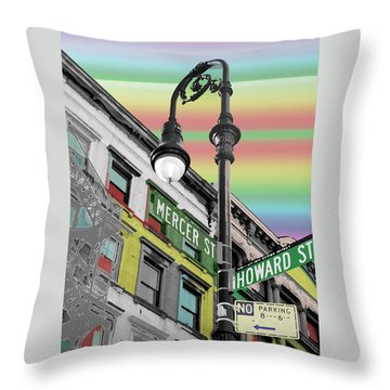 Mercer St Throw Pillow by Christopher Woods