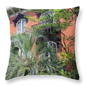 Mercer Williams House-savannah Ga Throw Pillow