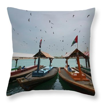 Merchants Of Dubai Throw Pillow