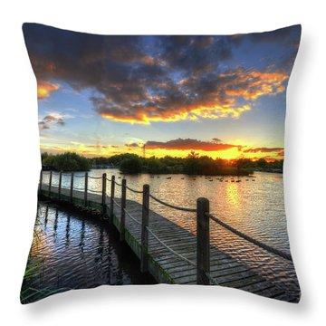 Throw Pillow featuring the photograph Mercia Marina 18.0 by Yhun Suarez