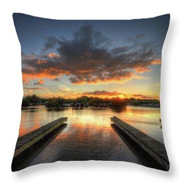 Throw Pillow featuring the photograph Mercia Marina 19.0 by Yhun Suarez