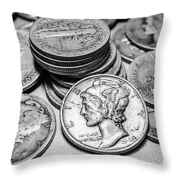 Mercury Dimes Throw Pillow