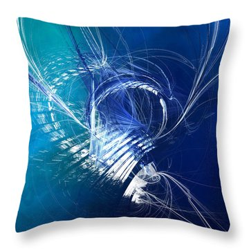 Mercury In Cancer - Cardinal Water Throw Pillow by Menega Sabidussi