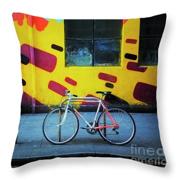 Throw Pillow featuring the photograph Mercury Raleigh Bicycle by Craig J Satterlee