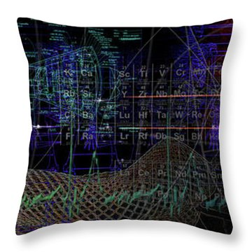 Throw Pillow featuring the digital art Mercury Rising by Kenneth Armand Johnson