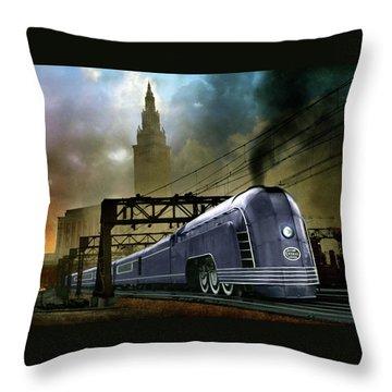 Mercury Train Throw Pillow