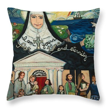 Mercy Foundress Catherine Mcauley Throw Pillow