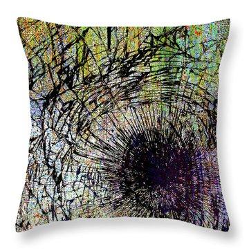 Throw Pillow featuring the mixed media Mercy by Tony Rubino
