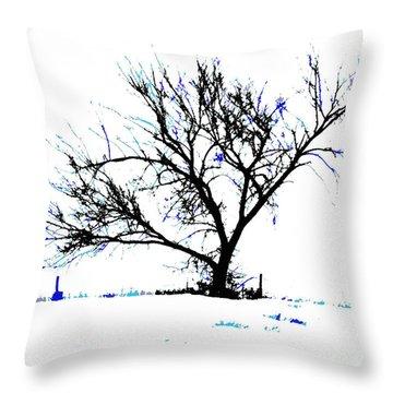 Meredith Blue 2 Throw Pillow by Renie Rutten